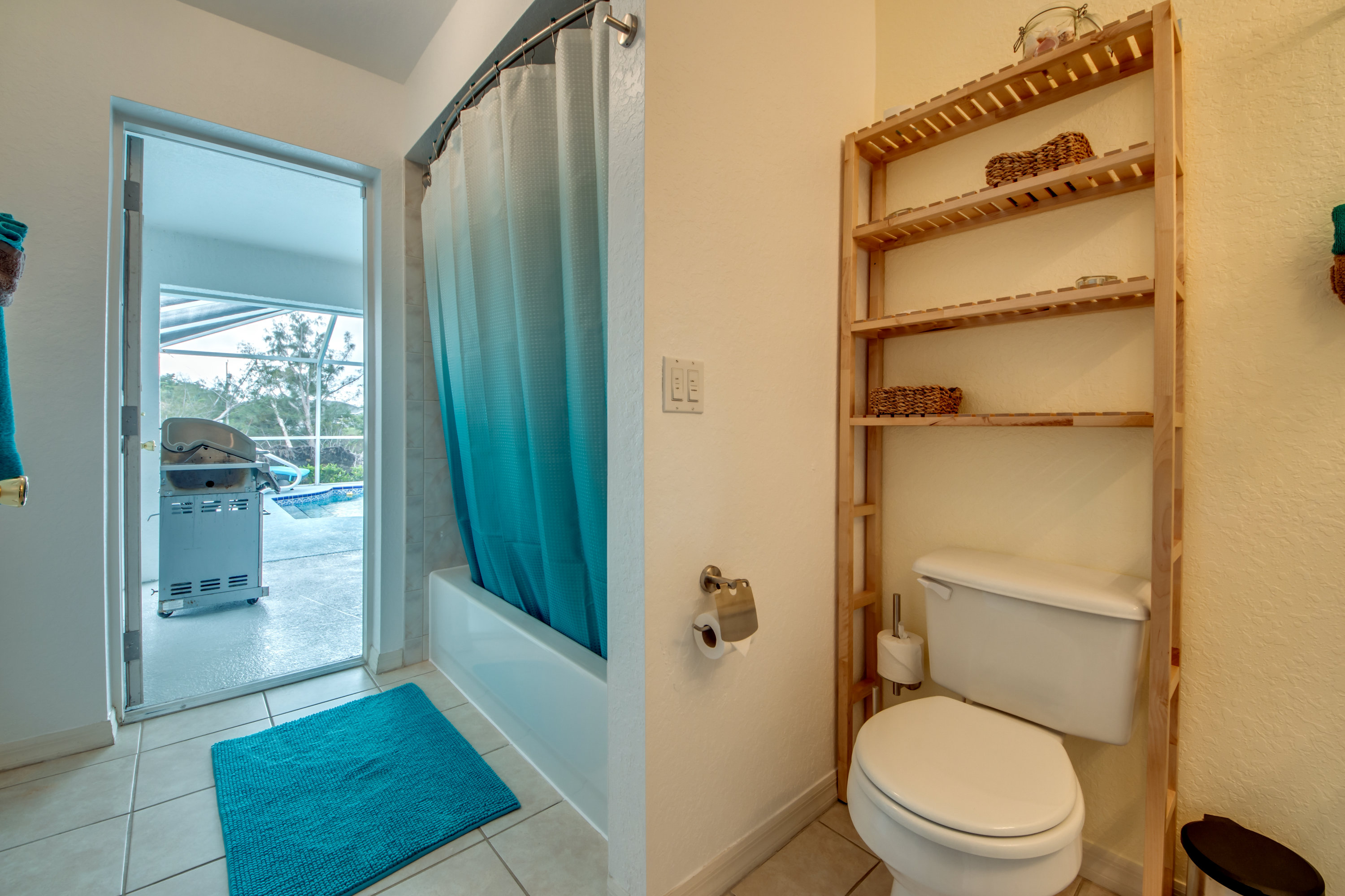 Guest Bathroom with Pool Access